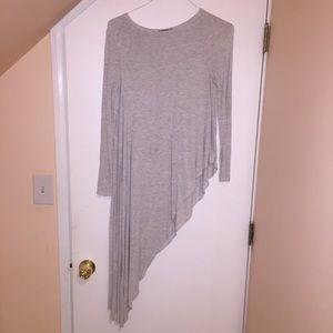 Zara grey high low T-shirt